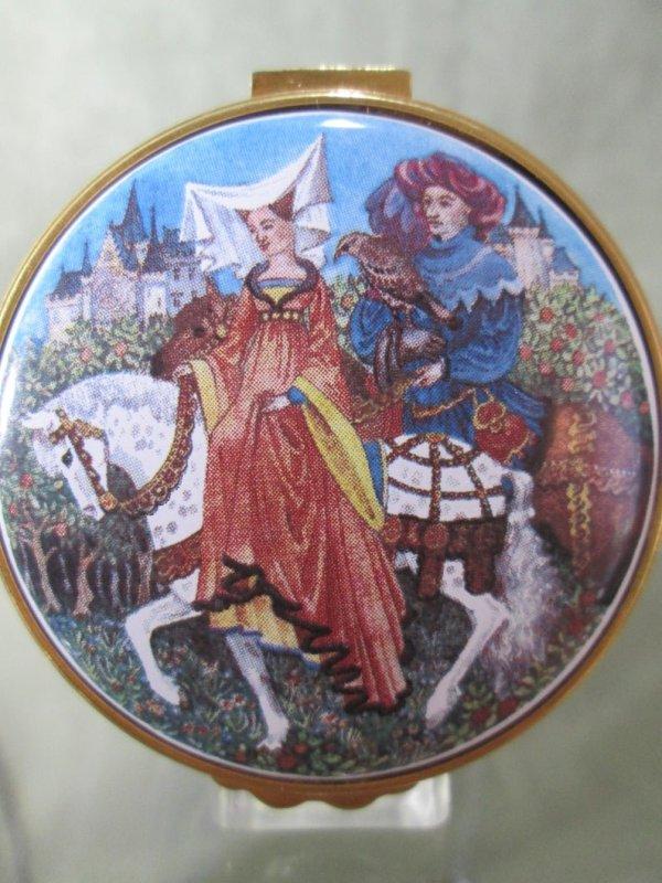 Medieval Costume Enamel Box