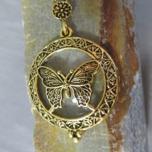 butterfly loupe pendant