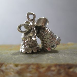 Silver Wedding Bells Charm