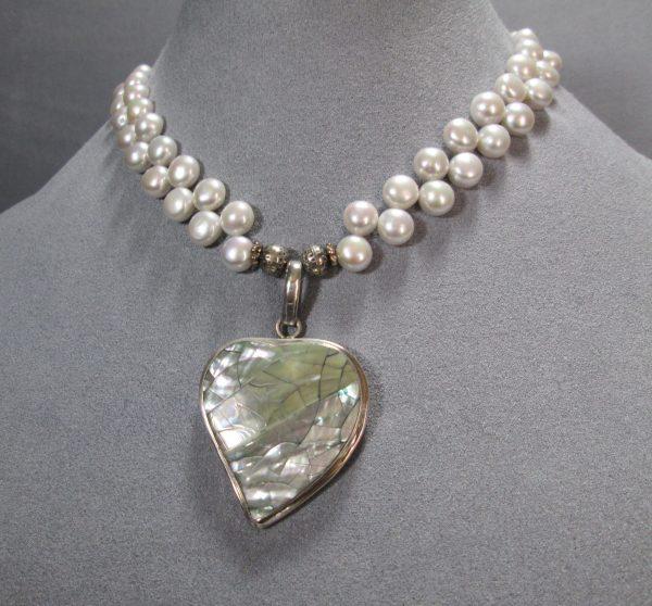 Baroque Pearl Heart Necklace