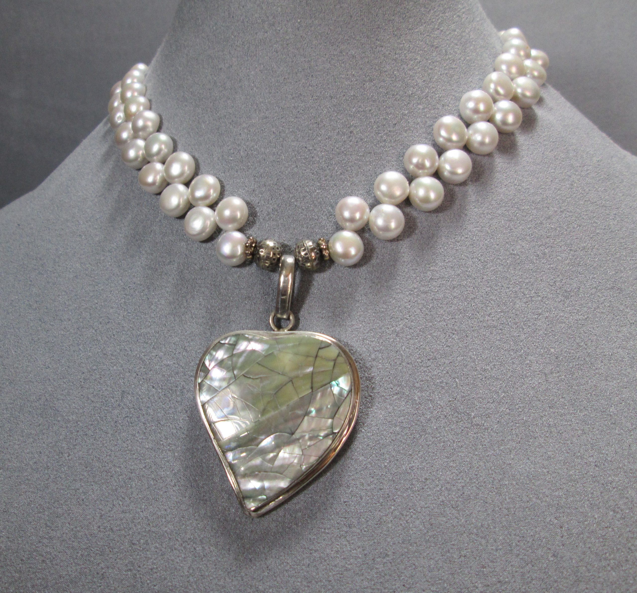 Baroque Pearl Heart Necklace