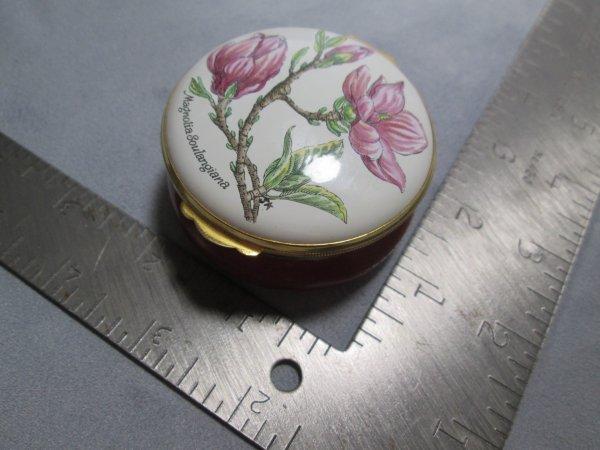 Crummles Magnolia Enamel Box