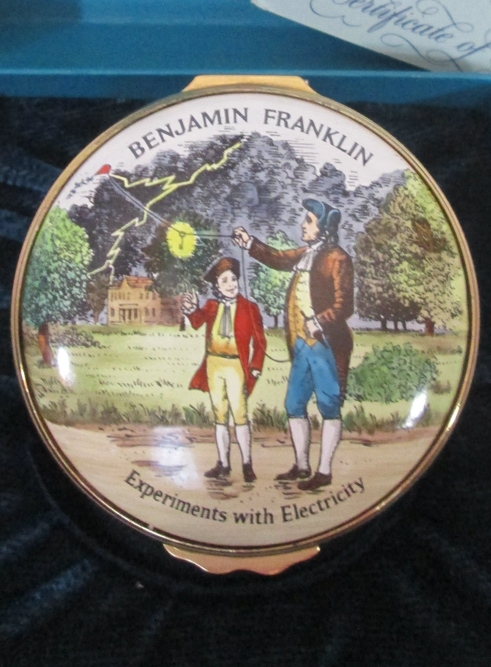 Ben Franklin Halcyon Days Box
