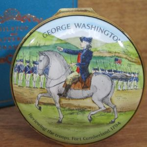 George Washington Enamel Box