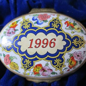 Halcyon Days Enamel Box 1996