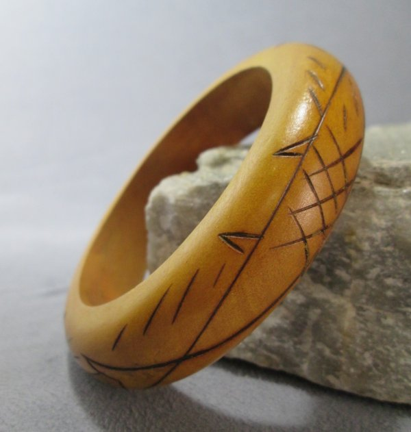 Two Fish Carved Bracelet