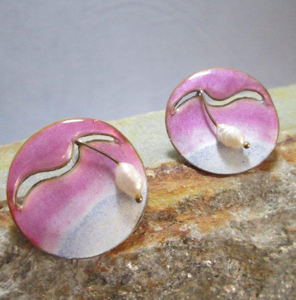 Artisan Enamel Earrings
