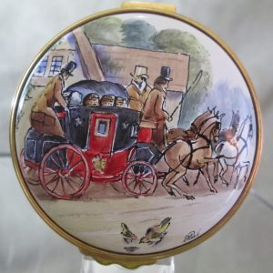 Kingsley Enamel Box Coach and Horses