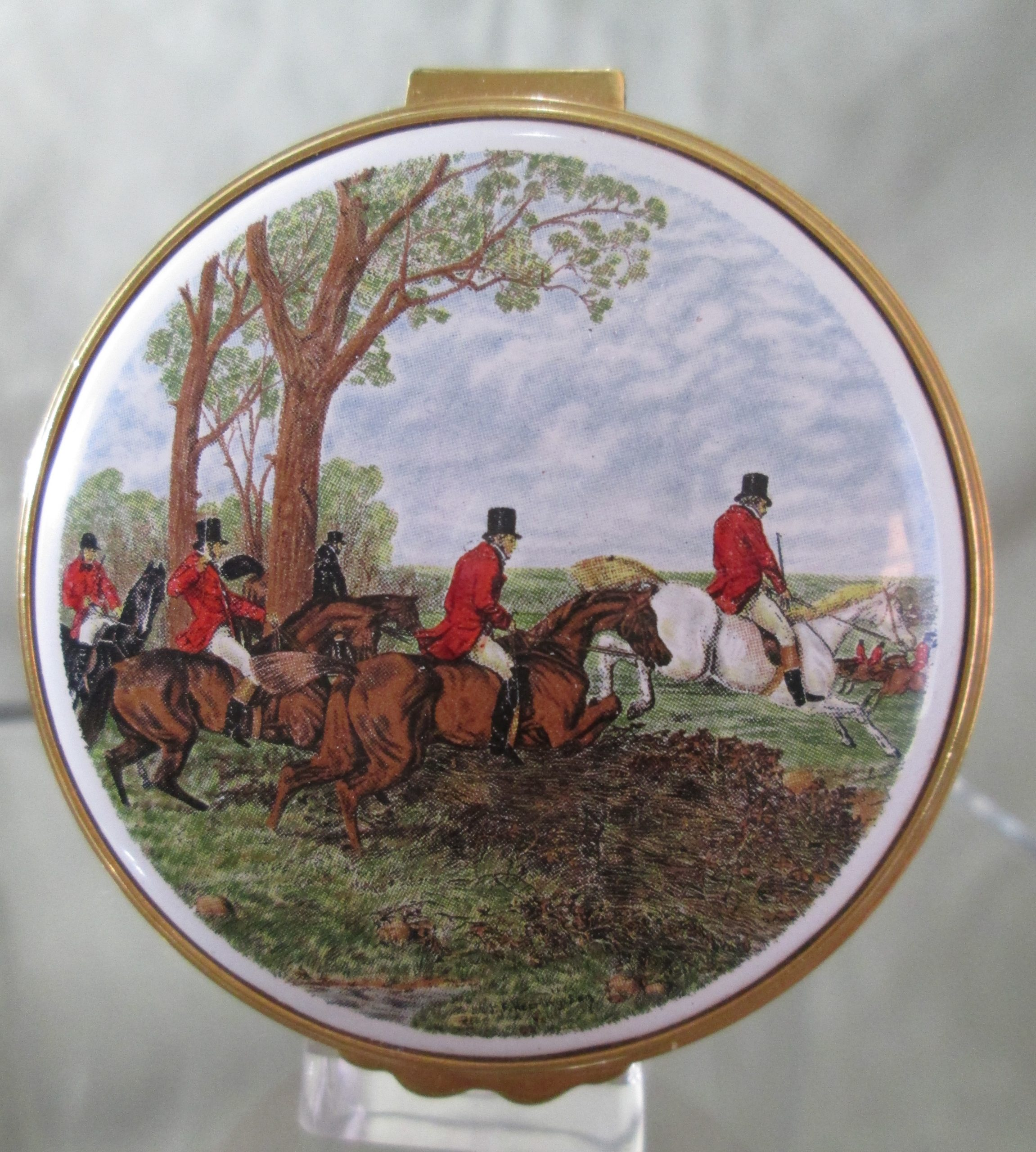 kingsley enamel english fox hunt