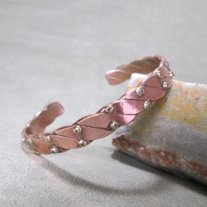 Copper Cuff with Brass Balls