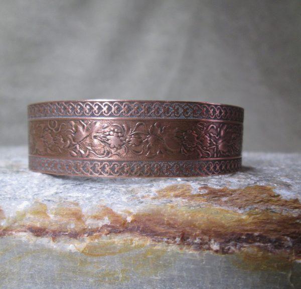 copper cuff grape vine bracelet