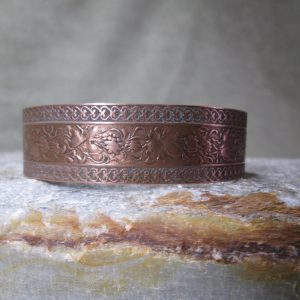 copper cuff grape vine bracelet