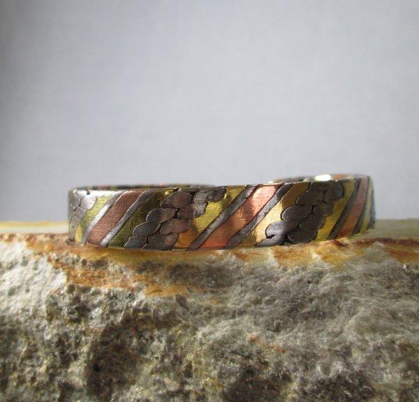 wrapped metal cuff bracelet