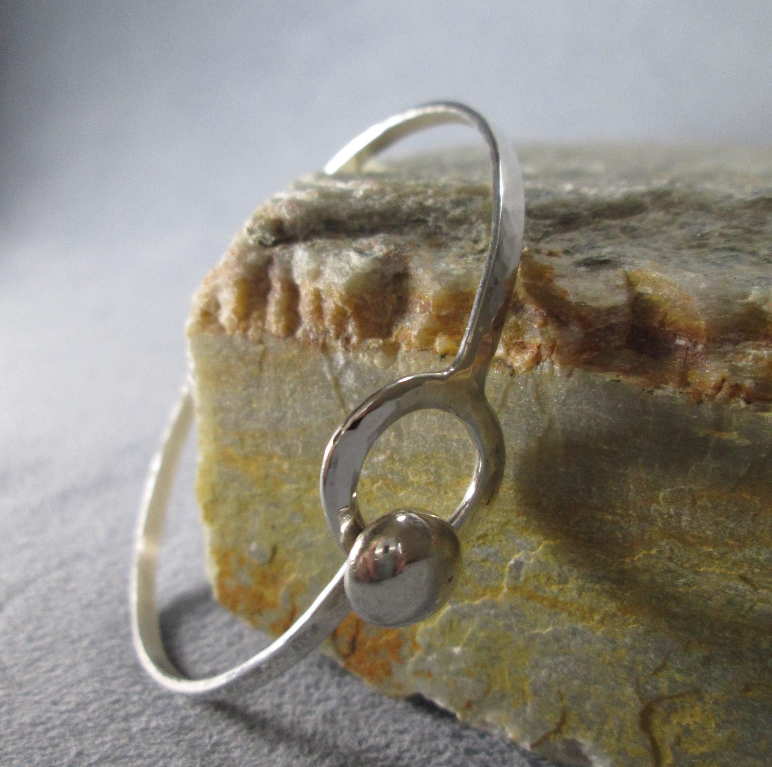 Hand Struck Orbital Clasp Bracelet