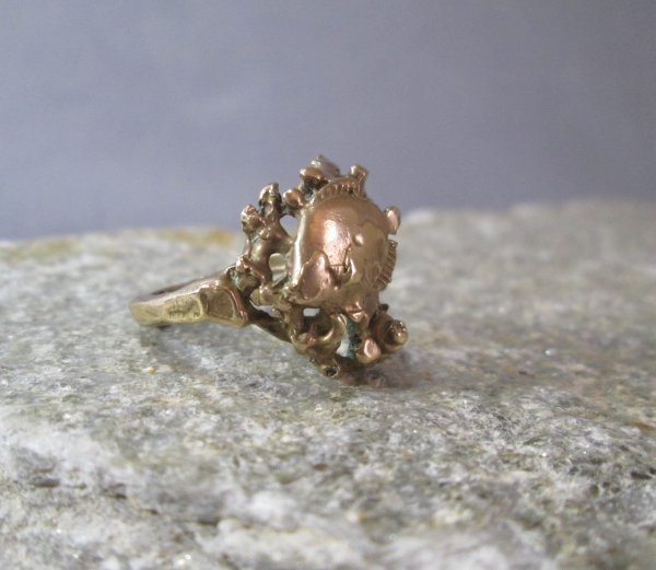 Two Fish Bronze Ring