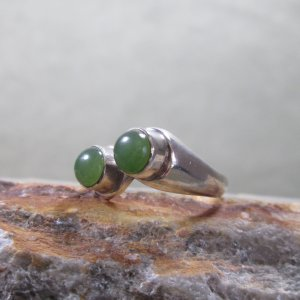 sterling silver jade twin suns ring