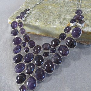 Dramatic Amethyst cocktail Necklace