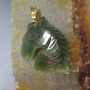 Carved Jade Horse Charm