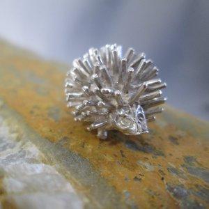 sterling silver hedgehog charm