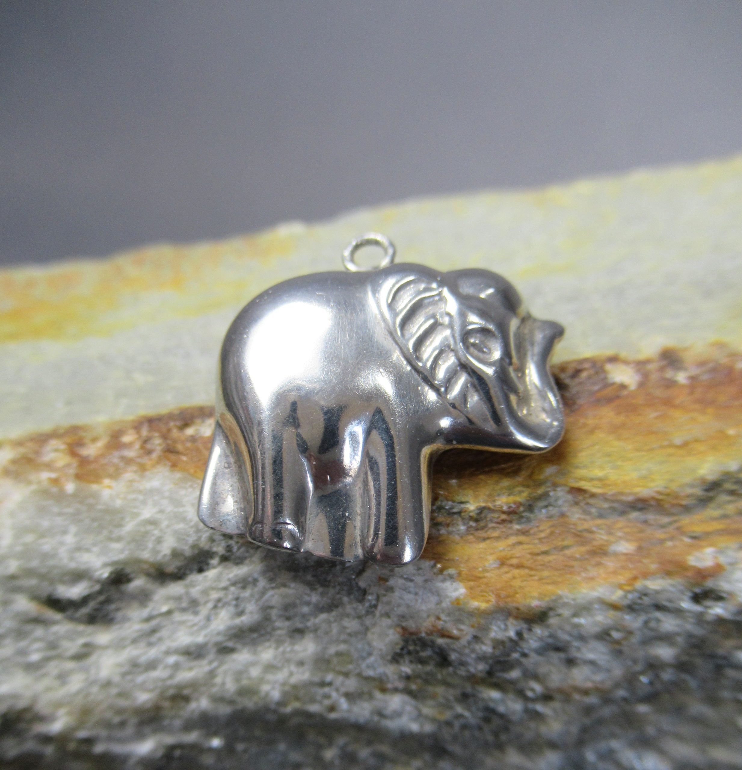 sterling silver elephant bracelet charm
