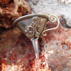 Lion Rampant Heraldic Perfume Funnel