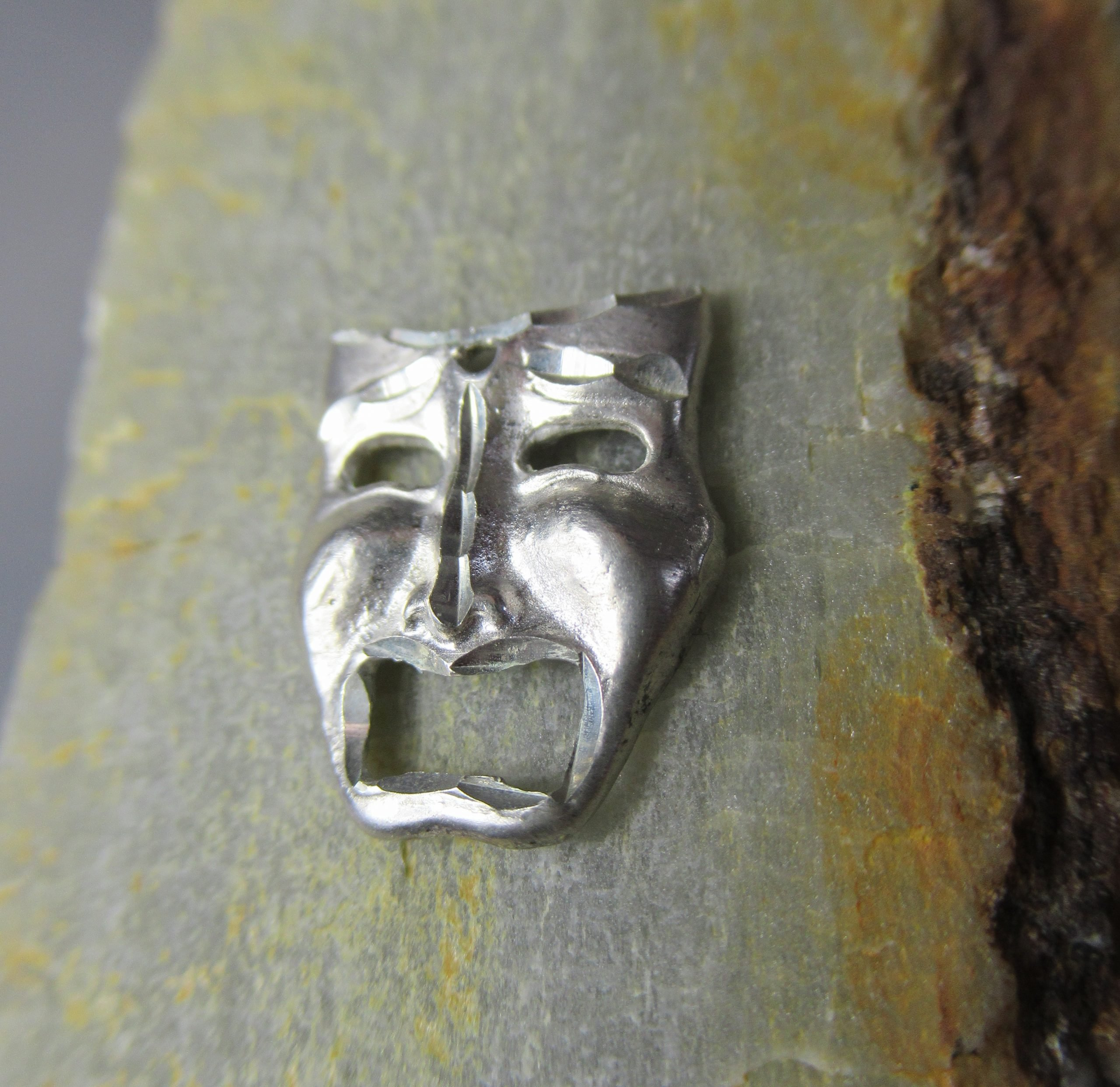 Sterling Silver Tragedy Theater Mask