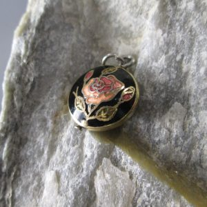 Cloisonne Rose Charm
