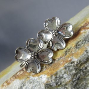 Silver Dogwood Blossom Earrings