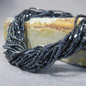 Iridescent Glass Beaded Necklace