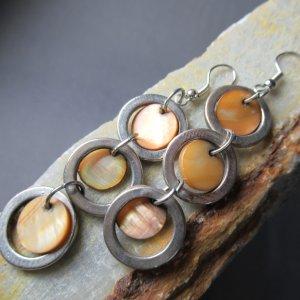 Golden Mother of Pearl Earrings