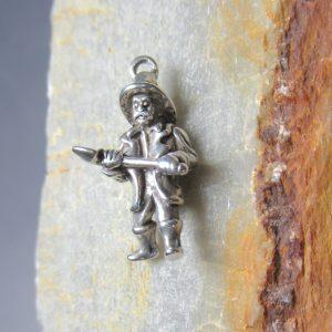 Silver Fireman with Axe
