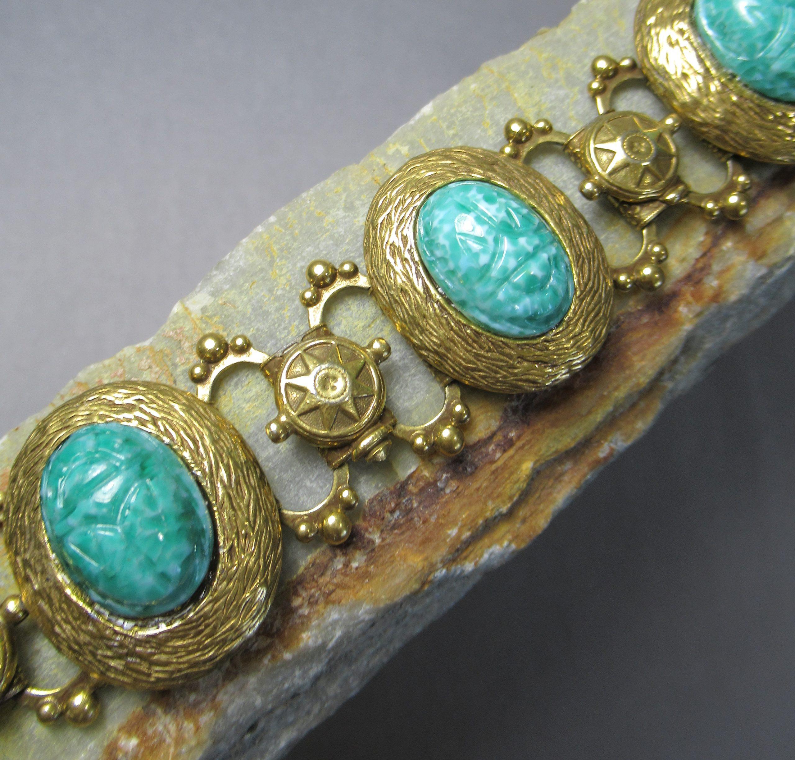 Antique Scarab Cameo Bracelet