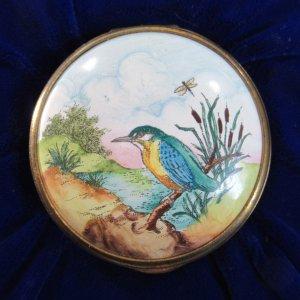 Halcyon Days Kingfisher Enamel Box