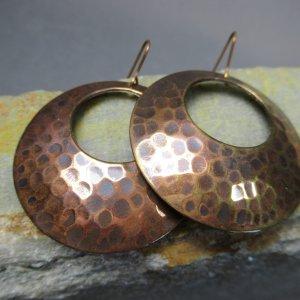 Copper Cheetah Spot Earrings