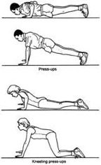 Complete Body Workout - Press up