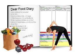 Picture of lady using a food diary