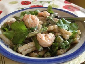 Macaroni Sweet Chilli Prawn Salad