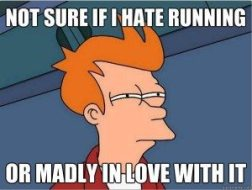 Not sure if I love or hate running