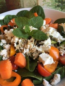 Race Day - Spinach & Feta Cheese Salad with Quinoa & Wholegrain Basmati Rice