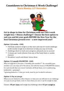 Christmas 6 Week Challenge