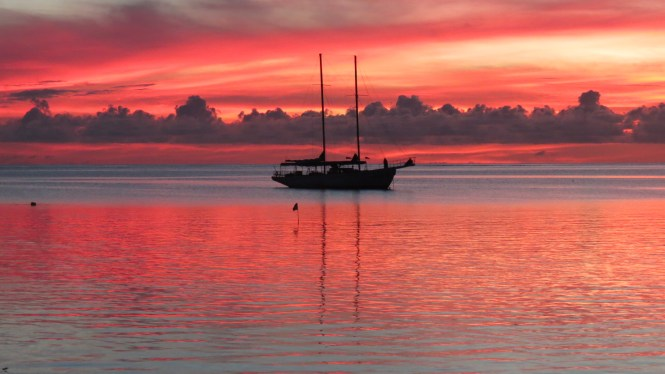 Sunset in Fiji Islands