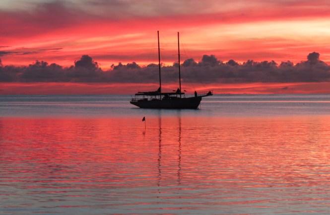 Sunset in Fiji Islands