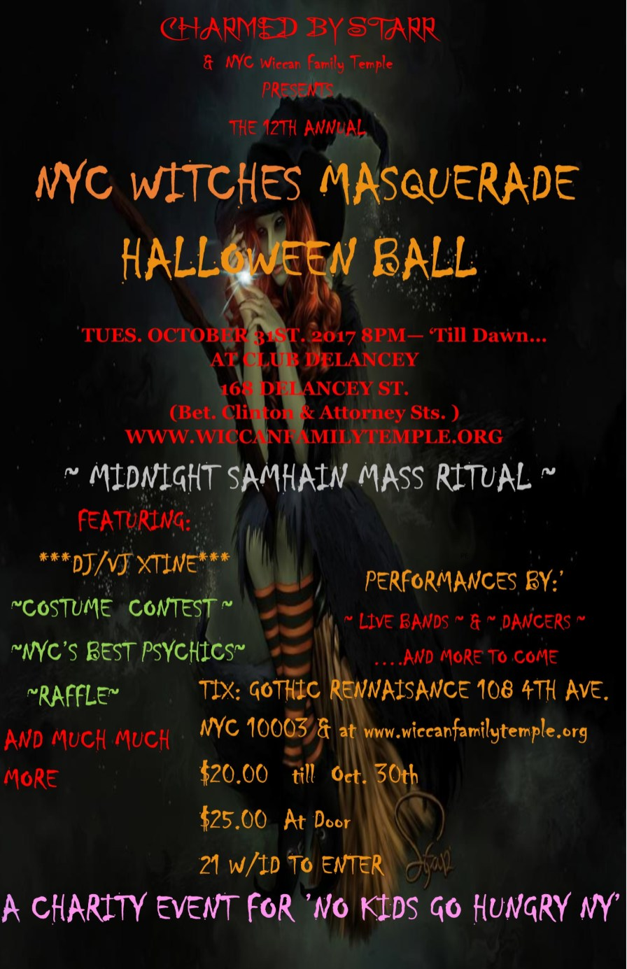NYC Witches Halloween Masquerade Ball