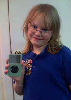 The girl, the iPod and bed-head