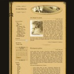 "Old fashioned ""book"" theme with sepia pages for WordPress"