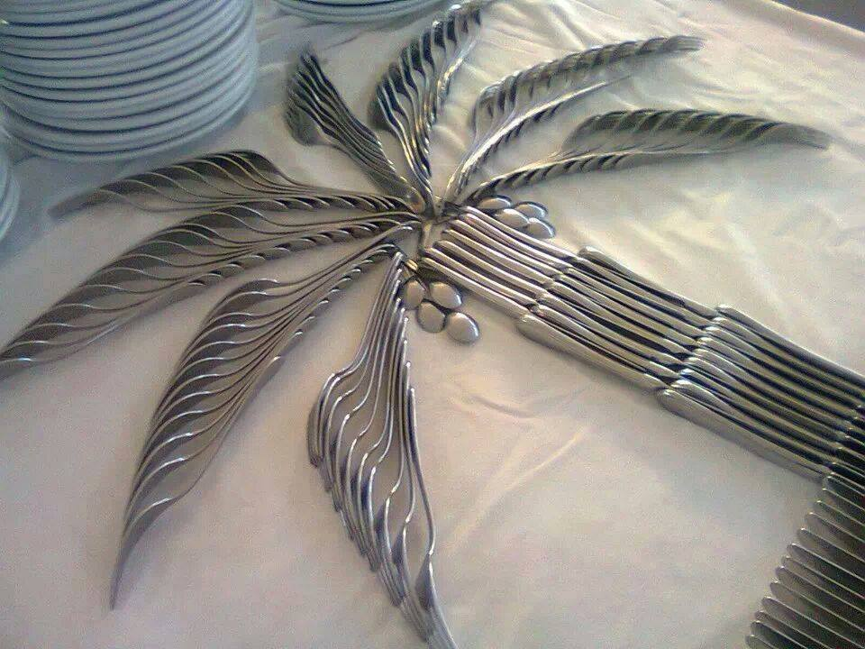 Silverware Palm Tree! & Silverware Palm Tree! | Deceptively Blonde
