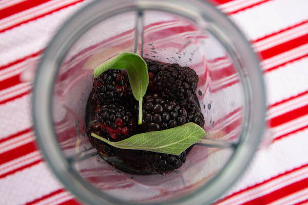 blackberry and sage popsicles