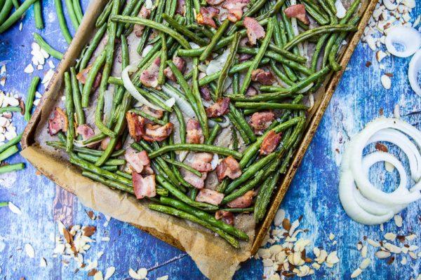 Sheet Pan Green Bean Casserole Keto Side Dish Recipe