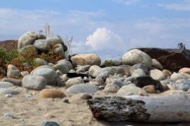 Sand, Stones, Wood and Clouds
