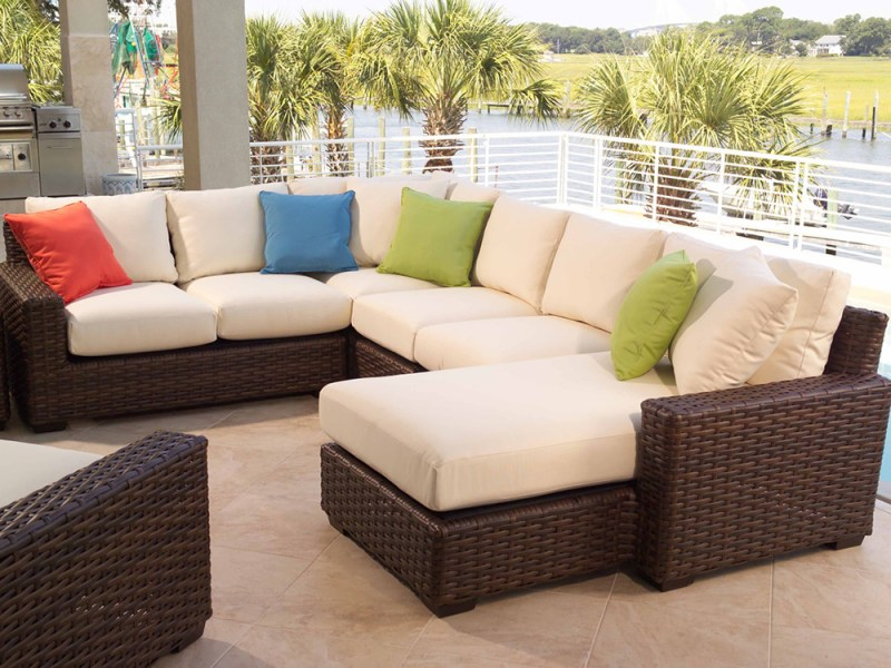 Lloyd Flanders Contempo Wicker 5 Piece Sectional Set   Wicker com Lloyd Flanders Contempo 5 Piece Wicker Sectional Set